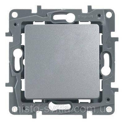 Перемикач 1-клавішний вимикач прохідний), алюміній, Legrand Etika Легранд Етика