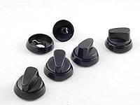 Ручка регулировки для плит (5 шт. в комплекте) НОРД черная (нового образца)