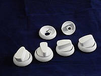 Ручка регулировки для плит (5 шт. в комплекте) НОРД белая (нового образца)
