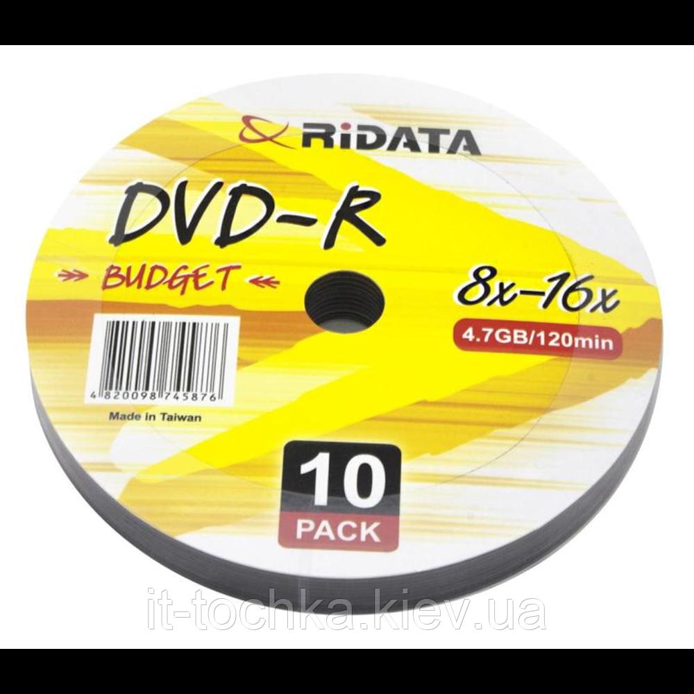 Ridata dvd-r 4,7gb 8-16x bulk 10 pcs budget