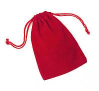 Мешочек бархатный для маятника 8х9 см ( красный )