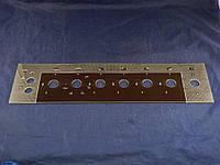 Верхняя стеклянная панель плиты Грета 498х128 мм. (1)