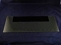 Нижняя стеклянная панель плиты Грета 498х200 мм. (черная)
