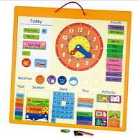 Магнитный календарь Viga toys (50377)