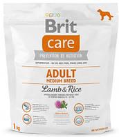 Brit Care Adult Medium Breed Lamb & Rice 1 кг- для взрослых собак средних пород с рисом и ягненком
