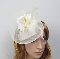 Шляпка на уточке Роза с перьями 6 видов