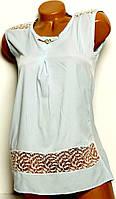 Блуза нежно-голубая размер 44