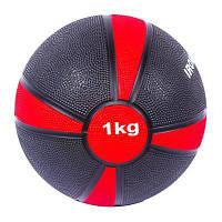 Медбол IronMaster(4/1) 1kg, D19cm, кр/черн