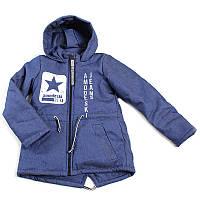 """Куртка джинс утеплена дитяча """"Amadeski""""  (Зріст 146, Синій)"""