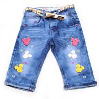 Джинсовые шорты для девочки, с ремешком