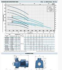 Насос центробежный Pedrollo HFm 51A, 750 Вт, 18 м3/ч, 21.2 м, фото 2