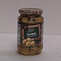 Оливки Nasza Spizarnia зелёные без косточки 340г