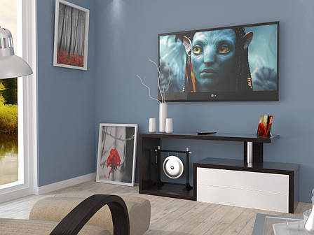 Тумба TV-line 02 (венге / белый супер мат), фото 2
