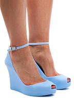 Голубые женские туфли  размеры 37-41