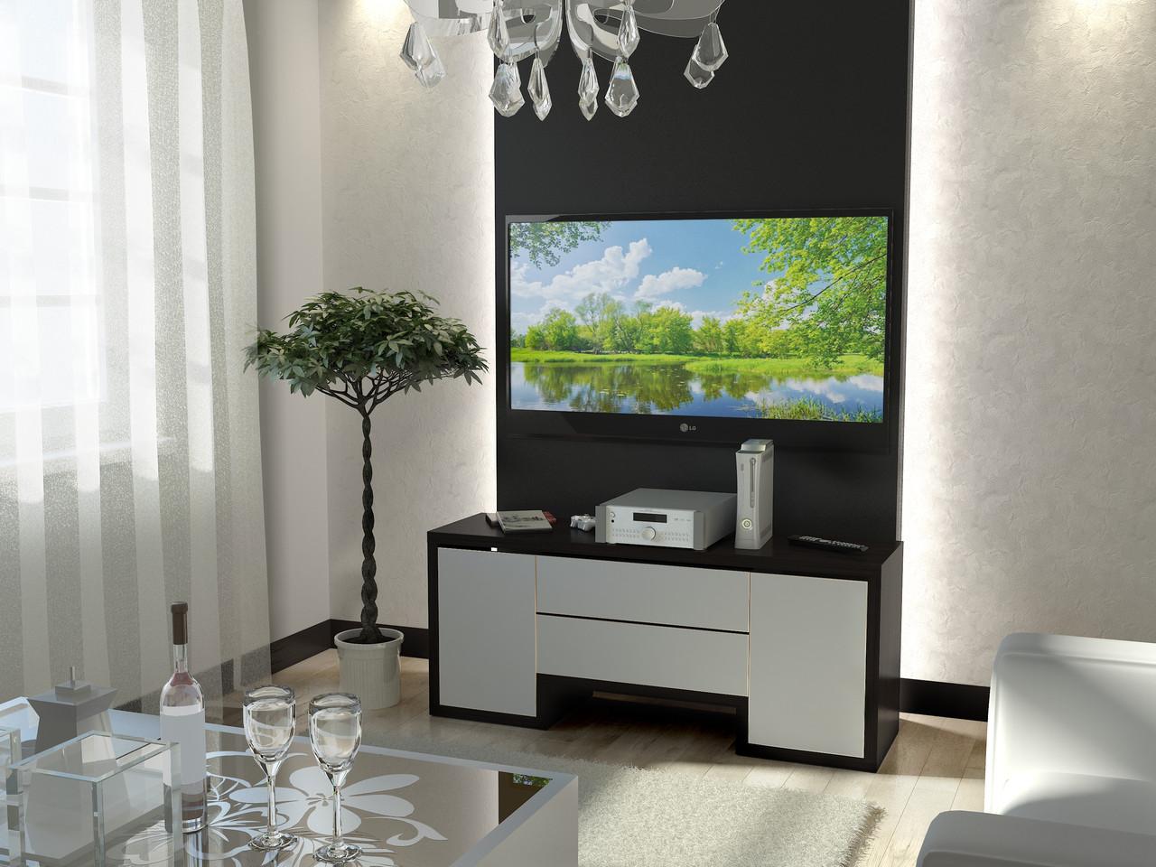 Тумба TV-line 01 (венге / белый супер мат)