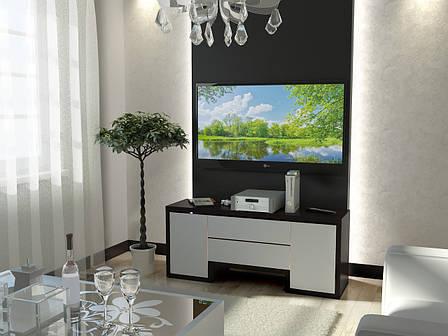 Тумба TV-line 01 (венге / белый супер мат), фото 2