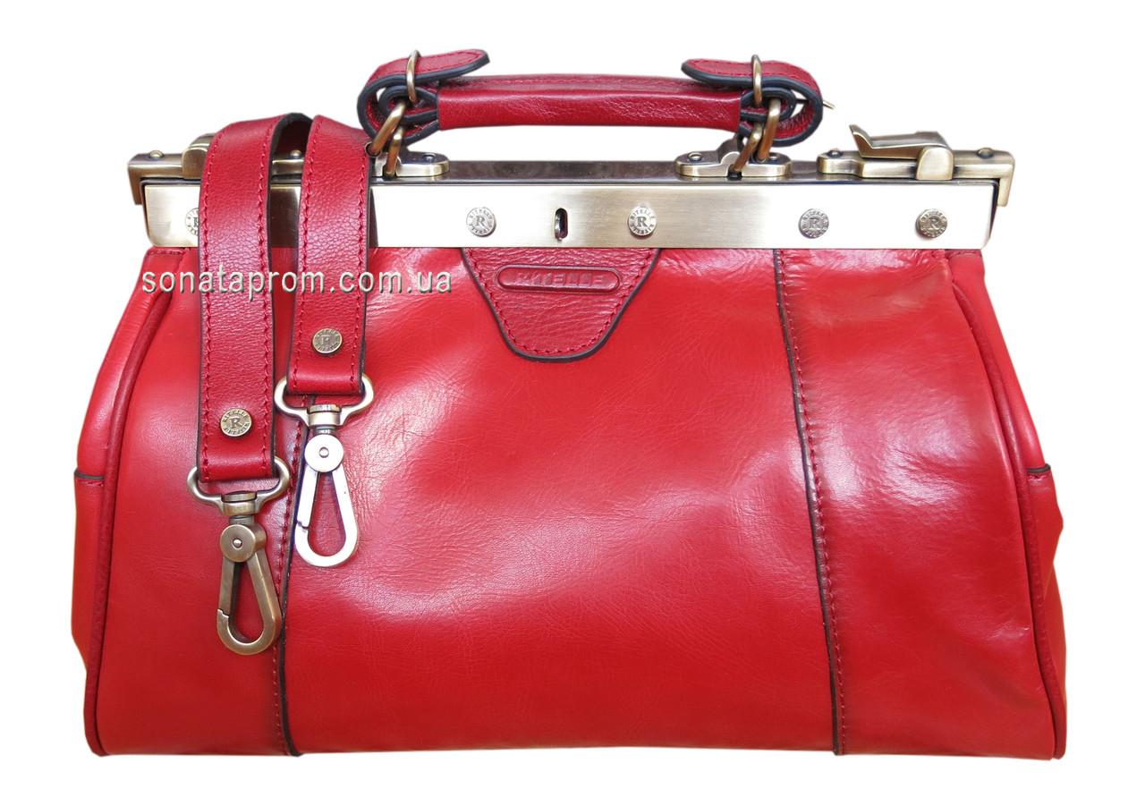 Женская сумка саквояж кожа Ritelle - SONATAPROM.COM. 3abf13fa8691d