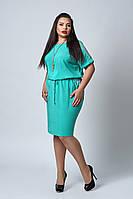 Платье мод №518-4, размер50,52,54,56 бирюза