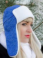 Умка.Молодежные женские шапки.МеланжЭлектрик., фото 1