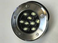 Светодиодный тротуарный линзованный светильник LM989 9W 6500K IP65 220V Код.58904