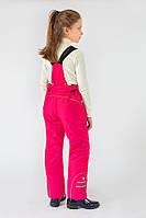 Зимние брюки для девочки на бретелях (малина) Модный карапуз 03-00670-0