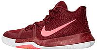 Баскетбольные мужские кроссовки 2017 Nike Kyrie 3 Hot Punch Team Red White (Найк) бордовые