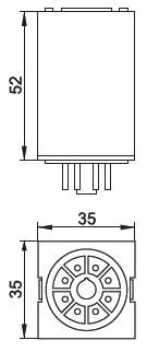 габаритные размеры реле MK-2P