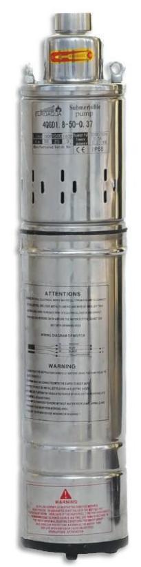 Погружной скважинный насос Euroaqua 4QGD 1,8–50–0,37