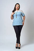 Кофточка  мод 520-3 размер 52,54 голубая полоска