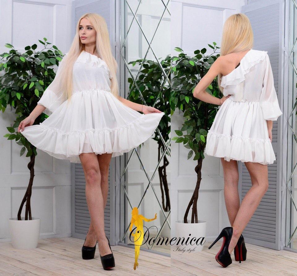 cf2ce8a6b2d2b22 Нарядное, женское, летнее платье на одно плечо с длинным рукавом