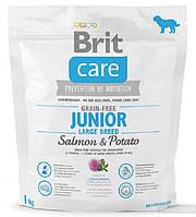 Brit Care GF Junior Large Breed Salmon & Potato -1 кг с лососем для щенков гигантских пород