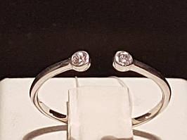 Серебряное кольцо с фианитами. Артикул 901-00935 13,5 13