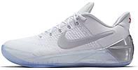 Баскетбольные мужские кроссовки 2017 Nike Kobe AD White Chrome (Найк) белые