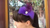 Шляпка на уточках  Капля фиолетовый