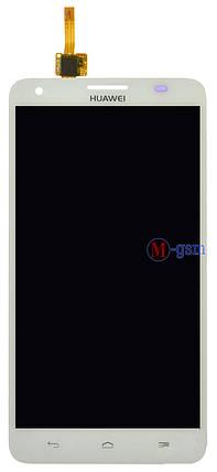 LCD модуль Huawei G750 Honor 3X белый, фото 2
