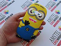 Объемный 3D силиконовый чехол бампер для Samsung J1 Ace Galaxy J110 Миньон