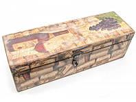 """Футляр для бутылок с барменским ножом """"Пробка"""" (массив дерева 36х11,5х11,5 см) ( 30393B)"""