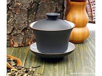 Гайвань глина с эмалью Исин. Тёмно коричневый арт 9200005-1