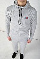 Спортивный костюм Tommy Hilfiger с капюшоном светло-серый