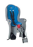 Велокресло детское HAMAX Sleepy на раму серое/голубое