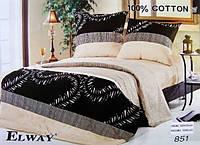 Постельное сатин полуторный ELWAY. Польша. Комплект постельного белья 160х220 см. 851