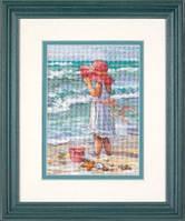 Dimensions Набор для вышивания крестом  Девочка на берегу 65078