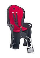 Велокресло детское Hamax Kiss на раму чёрное/красное