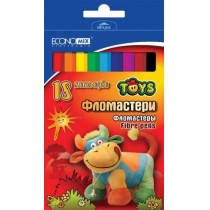Фломастери  ТОЙС 18 кольорів, картон, подвійна коробка