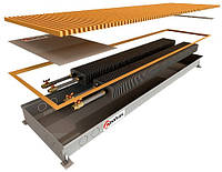 Внутрипольные водяные регистры с двумя теплообменниками POLVAX КЕМ 1750х300х78*