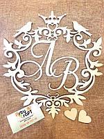 Мини-монограмма свадебная (№3) (дизайн любой), фото 2