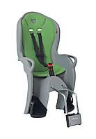 Велокресло детское Hamax Kiss на раму серое/зелёное