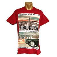 Мужская хлопковая футболка Daniel and Jones - №2290, Цвет красный