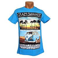Мужская модная футболка Highlander - №2285, Цвет голубой