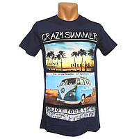 Популярные футболки для мужчин Highlander - №2286, Цвет синий